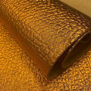 Cartier Pebble Leather   Metallic Orange   Italy