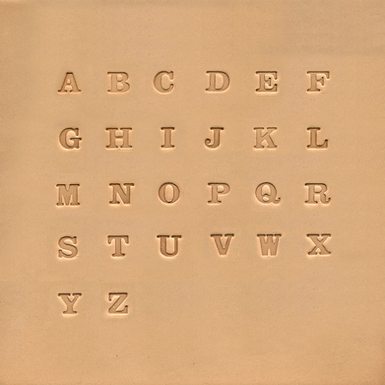 "1/4"" Alphabet Stamp Set 
