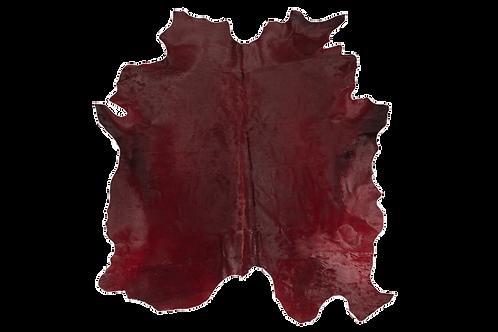 Italian Dyed Cowhide Rug   Bordeaux
