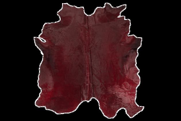 Italian Dyed Cowhide Rug | Bordeaux