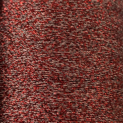 red metallic sewing thread