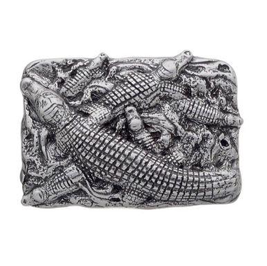 3D Belt Buckle | Crocodile Swamp Design