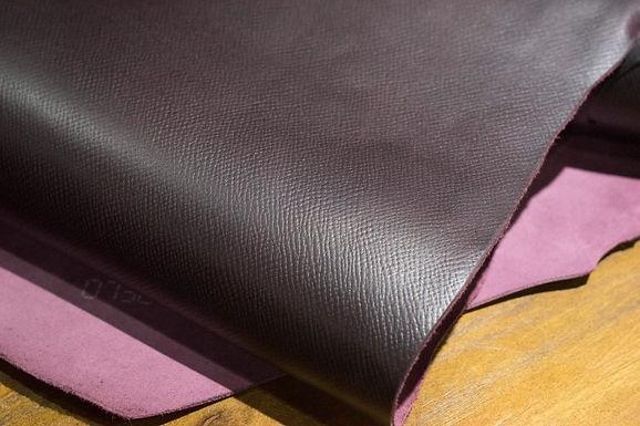 Horween Leather | Russian Hatch Grain | Dark Burgundy