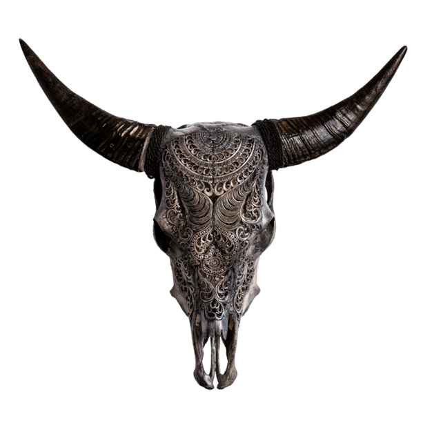 Carved Cow Skull