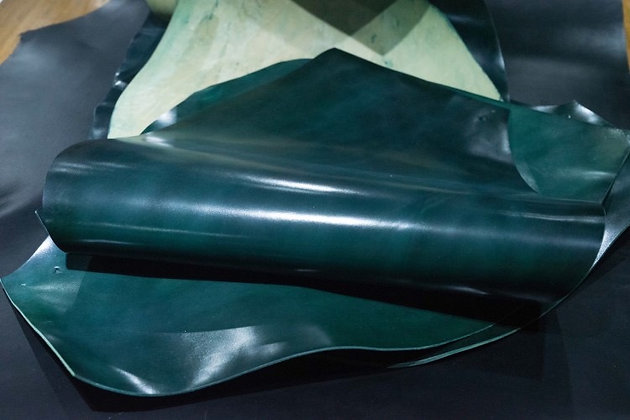 Horween Leather   Shell Cordovan   Dark Green