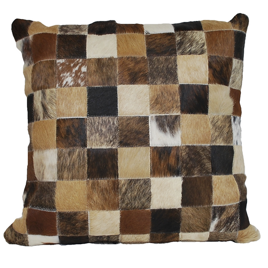 Cowhide Pillow | Natural Browns | 45cm x 45cm