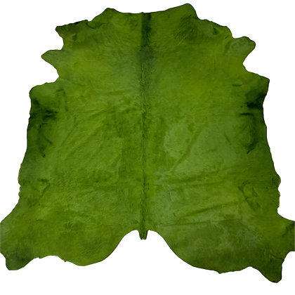 Italian Dyed Cowhide Rug | Grass Green