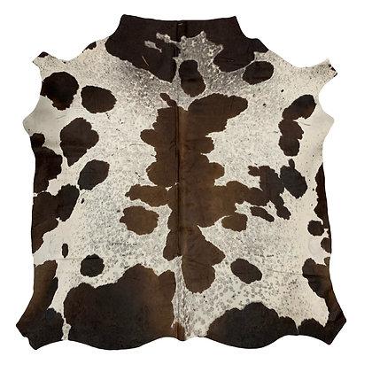 Nguni Cowhide Rug | Reddish Brown and White | XL | 10088