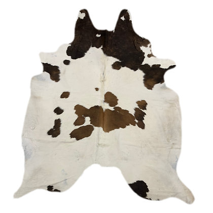 Cowhide Rug | Brown and White | L | 10152