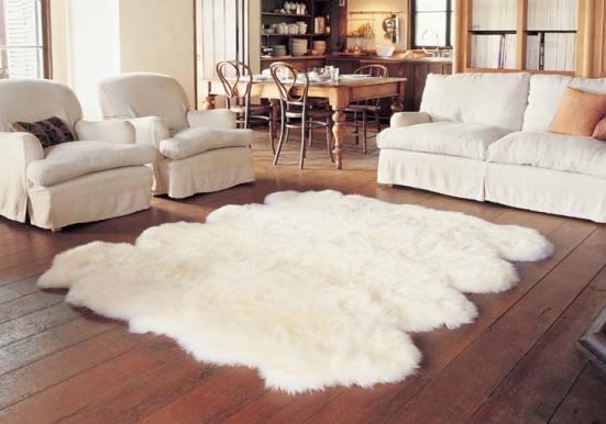 Longhair Sheepskin Rug | Eight Piece