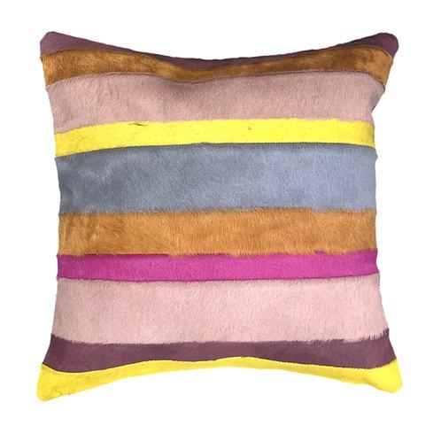 Multicolour cowhide cushion