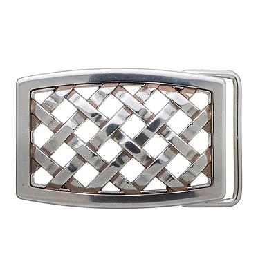 3D Belt Buckle   Rectangle Lattice Design