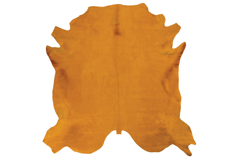 Italian Dyed Cowhides   Dark Gold