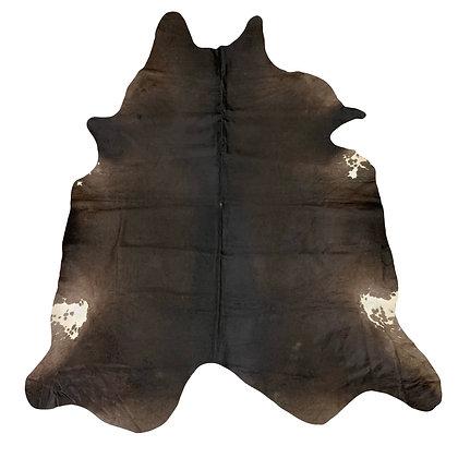 Cowhide Rug   Natural Dark Black / Brown    L   10170