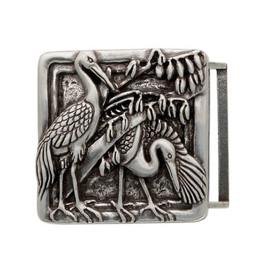 3D Belt Buckle | Stork Bird Design