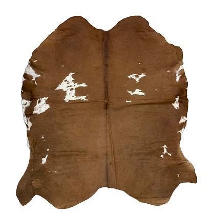 Cowhide Rug   Brown and White   L   10231