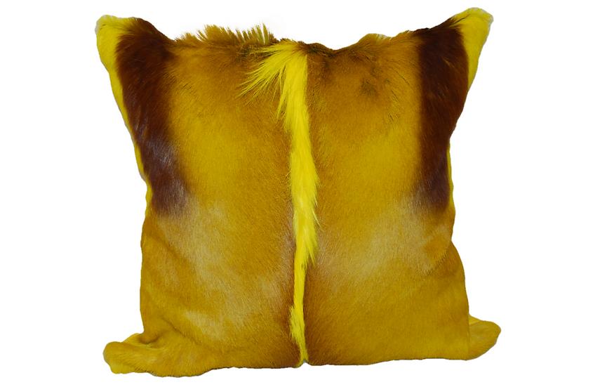 Springbok Hide Cushion | Yellow