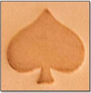 Tandy Leather   Spade 2-D Mini Stamp   8845-00