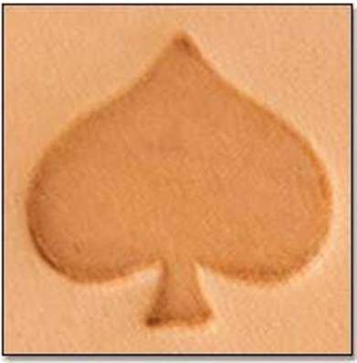 Tandy Leather | Spade 2-D Mini Stamp | 8845-00