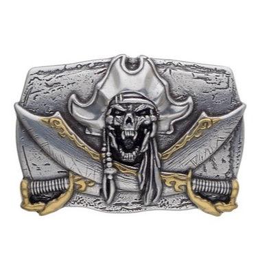 3D Belt Buckle | Pirate Skull Design