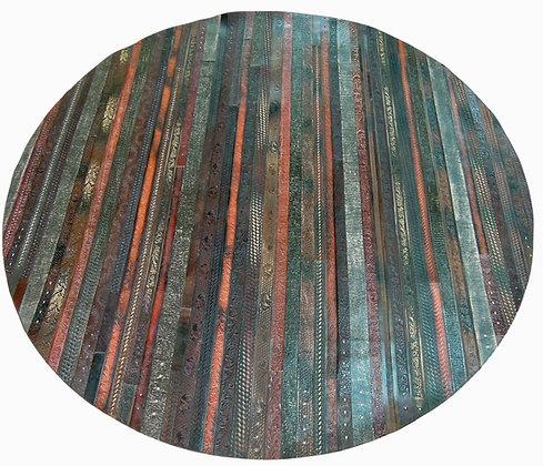 Leather Belt Mat/Rug