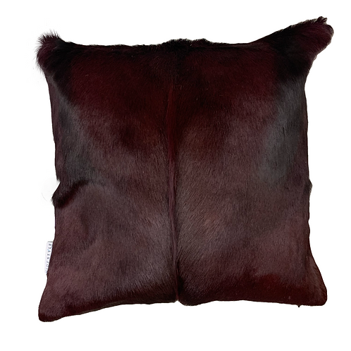 Springbok Hide Cushion | Burgundy