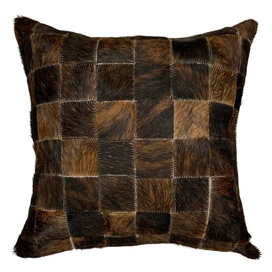 Cowhide Cushion | 40cm x 40cm | Dark Brindle