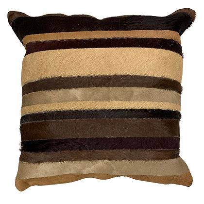Cowhide Cushion | Multi Browns | 40cm x 40cm