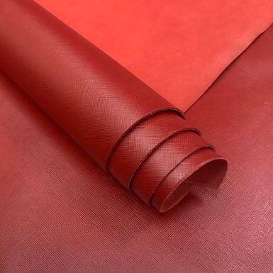 Saffiano Leather | Red