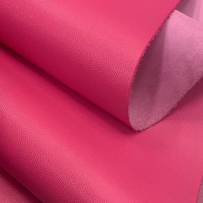 Caviar Grain Leather   Hot Pink   By the Sqft