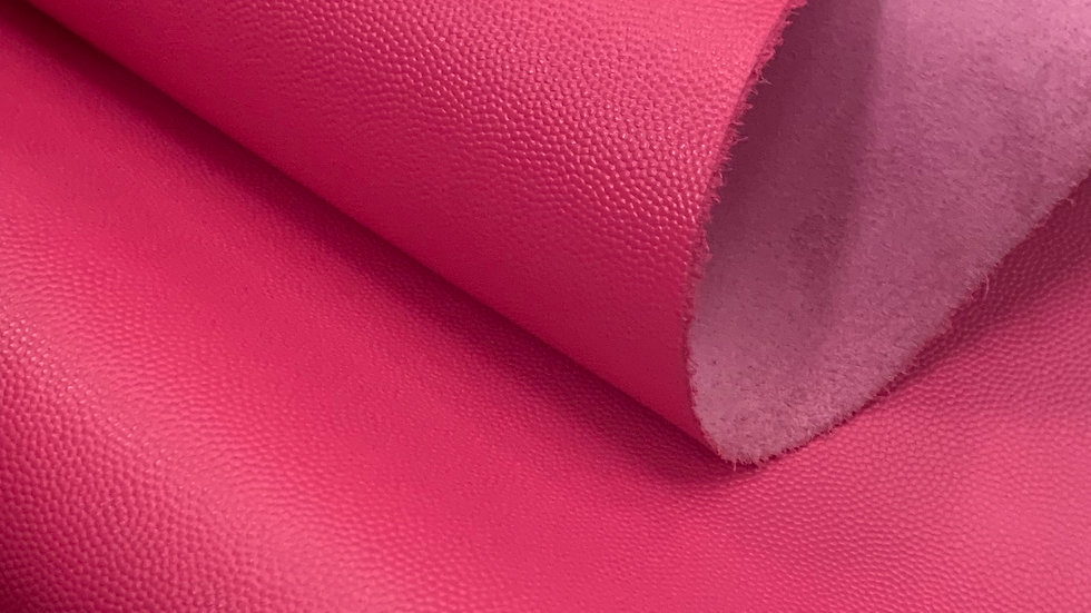 Caviar Grain Leather  | Hot Pink | Sample Panel