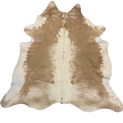 Cowhide Rug | Beige and White | L | 10065