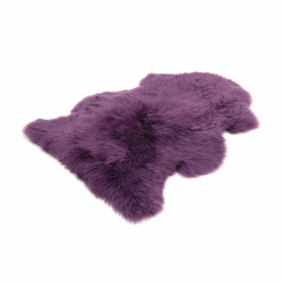 Purple One Piece Longhair Sheepskin Rug