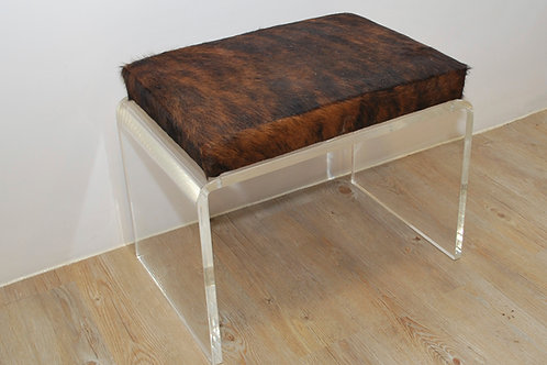 Acrylic Bench | Brindle Cowhide