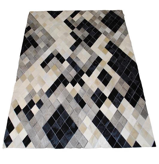 Patchwork Cowhide Rug | Diamonds Design 160 x 220cm