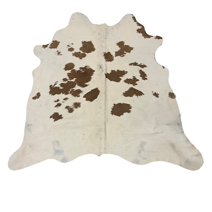 Cowhide Rugs | Brown and White | S