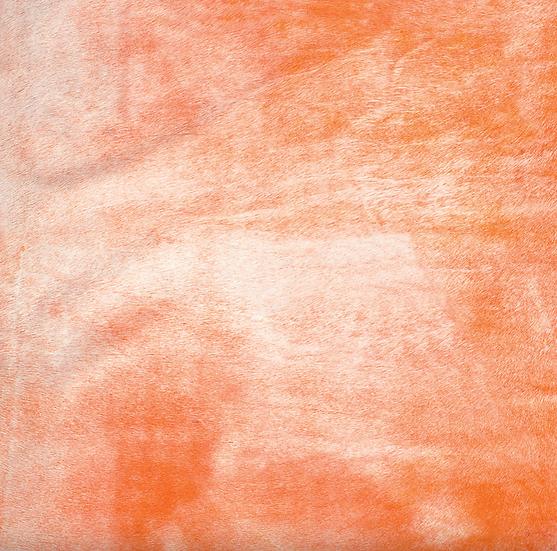 Italian Dyed Cowhide Rug | Corrosion | Campari