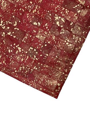 Patchwork Cowhide Rug | Metallic Splash 100 x 150cm