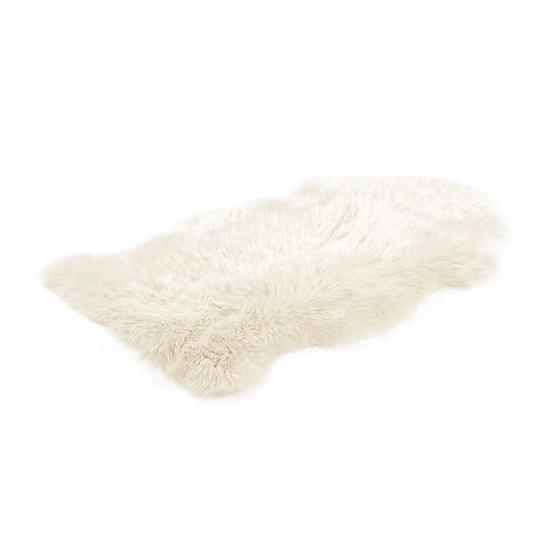 Ivory One Piece Longhair Sheepskin Rug