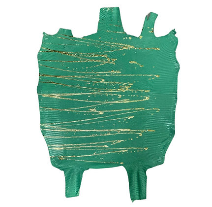 Lizard | Skateonice | Light Green with Gold  Metallic