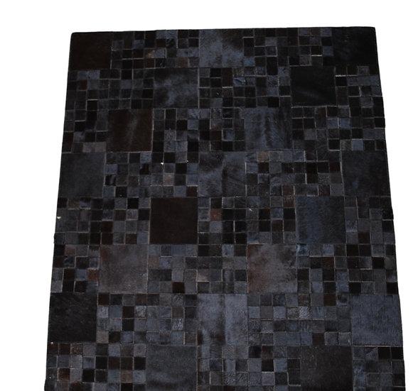 Patchwork Cowhide Rug   Natural Black  140 x 160cm