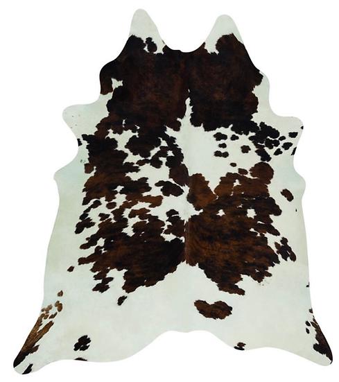 Cowhide Rug Natural Tri Colour Pattern