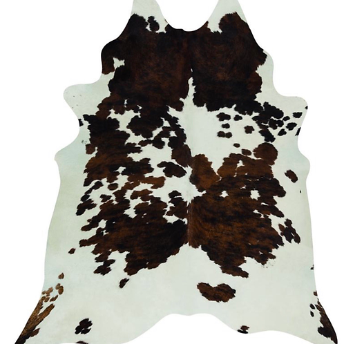 Cowhide Rug Natural Tri Colour Pattern