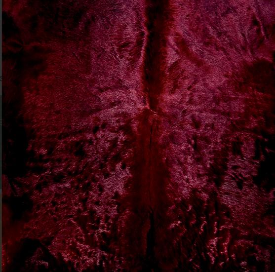 Italian Dyed Cowhide Rug | Contrast | Red Black