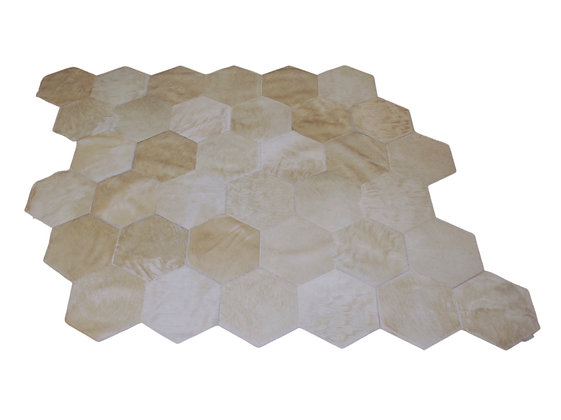 Quito Patchwork Cowhide Rug | Natural White 140 x 150cm
