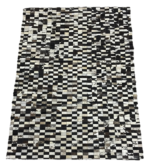 Patchwork Cowhide Rug |  Natural Black and White