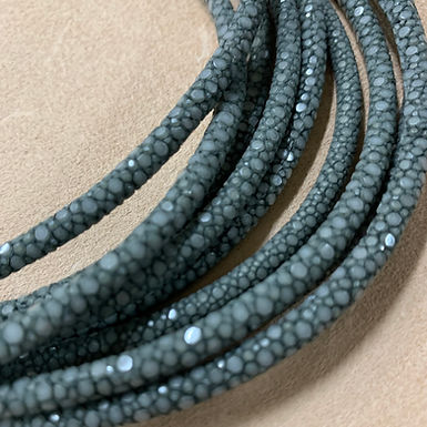 Stingray Leather Cord | Grey