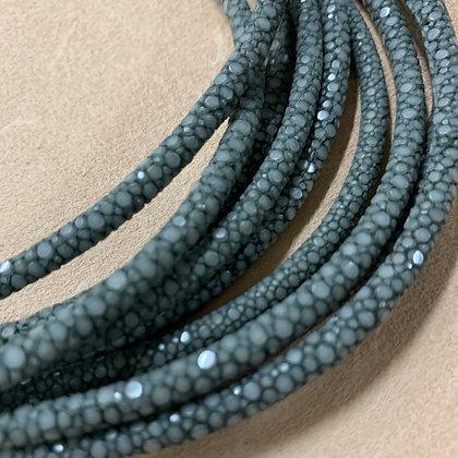 Grey Stingray Leather Cord