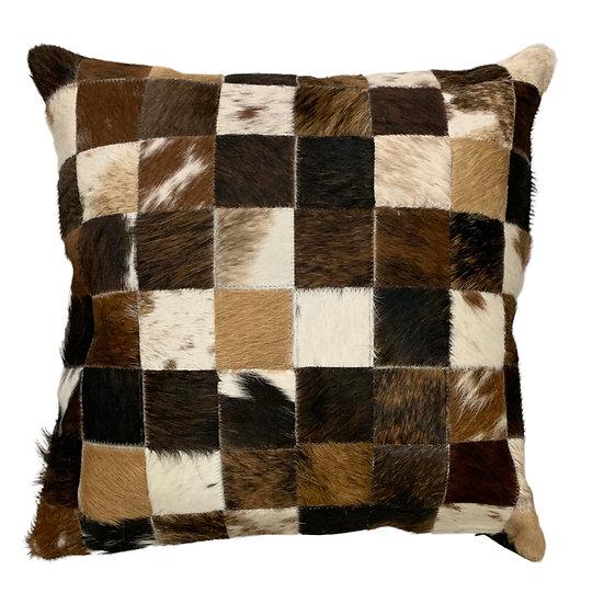 Cowhide Cushion | 40cm x 40cm | Natural Browns