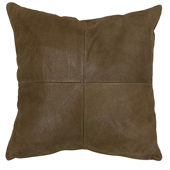 Leather Throw Pillow | Chocolate Leather  | 45cm x 45cm